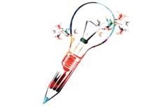 creative writing bulb pen